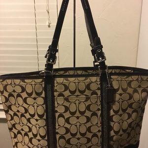 Coach bag tote brown bag